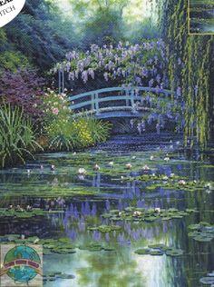 lavender evening cross stitch