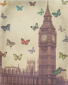 Big Ben & Butterflies.
