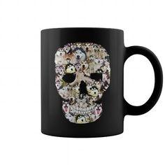 Unique Husky Dog Design Inside Skull Mug