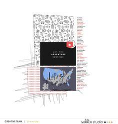 FREE Digital Scrapbooking Template / Sketch | May '20 | Sahlin Studio | Digital Scrapbooking Designs