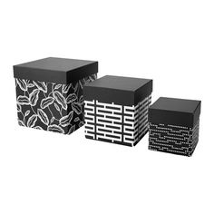 IKEA - AVSIKTLIG, Box with lid, set of 3, If you keep all your small things in boxes, it will be easier to stay organized and find what you need.