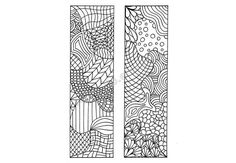 Printable Bookmarks to Color, DIY Zendoodle Bookmarks, Zentangle Inspired, Printable Coloring Page, Digital Download, Sheet 7 via Etsy