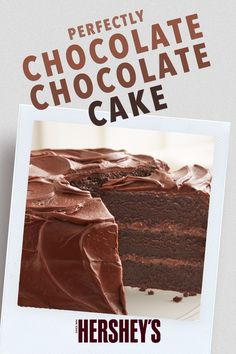 Fun Baking Recipes, Easy Cake Recipes, Frosting Recipes, Sweet Recipes, Dessert Recipes, Hershey Chocolate Cakes, Chocolate Chocolate, Chocolate Recipes, Hershey Recipes