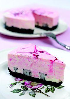 Pitaya (Dragon fruit) Cheese Cake  http://www.foodbuzz.com/recipes/916195-pitaya-cheese-cake