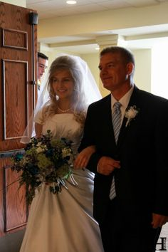 Erin Paine's (nee Bates) Daddy walking her down the aisle on her wedding day. {Bates Family Blog}