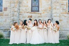 Love our bridal party in blush all dolled up by @katienashbeautyenashbeauty!    Venue: @solageresort   Planner: @lrelyeaevents   Photography: @mariannewilson   Beauty: @katienashbeauty   Linens: @latavolalinen   Rentals: @brighteventrentals