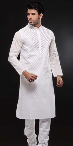 White Embroidery Salwar Kameez Designs For Men : Fashion, Beauty