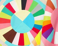 Color Wheel Foundation Paper Piecing Pattern by redpepperquilts