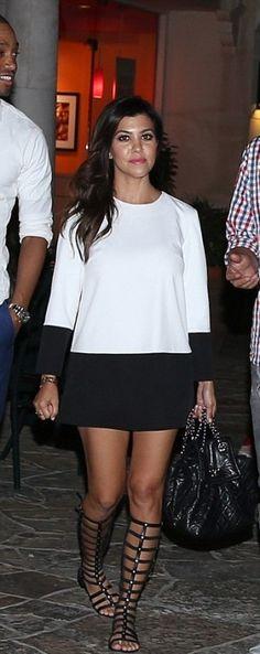 Kourtney Kardashian wearingChanel CC Lambskin Backpack Stuart Weitzman Gladiator Sandal  Calabasas September 16 2013
