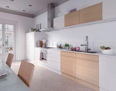 Castorama : Cuisine Epura Blanc et Chêne. Une cuisine épurée qui ne manque pas de style