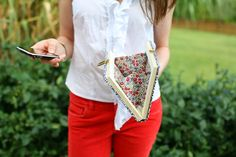 Caught On A Whim: DIY: Nerdy Chic Book Clutch