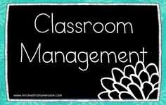 Ideas and resources for classroom management