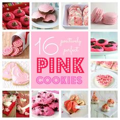 From simple sugar cookies to splendid homemade fortune cookies, these pink cookies are the perfect addition to your kitchen. Pink Cookies, Easy Sugar Cookies, Galletas Cookies, Valentine Cookies, Be My Valentine, Valentine Recipes, Baby Shower Prizes, Baby Shower Cookies, Yummy Treats