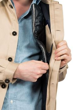Worker Jacket camel - with zip in system