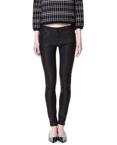 Image 3 of 5B COATED TROUSERS from Zara