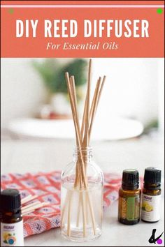 Make a simple reed diffuser for your home! This aromatherapy air freshener is su… Make a simple reed diffuser for your home! This aromatherapy air freshener is super easy! Perfume Glamour, Perfume Hermes, Perfume Diesel, Homemade Reed Diffuser, Diffuser Diy, Essential Oil Diffuser, Essential Oils, Reed Diffuser Sticks, Aromatherapy