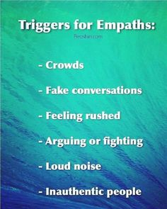 All absolutely true! Id rather hand out with my critters or with a couple of people that Im close to than ever be in a crowd - except a Rise Against concert! Empath Traits, Intuitive Empath, Empath Types, Psychic Empath, Empath Abilities, Psychic Abilities, Highly Sensitive Person, Sensitive People, Intuition