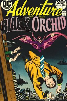 The Black Orchid comic book covers | Adventure Comics #430 Black Orchid