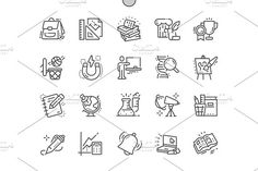UI Pixel Perfect Well-crafted Vector Thin Line Icons Grid for Web Graphics and Apps with Editable Stroke. All Icon, Icon Set, Create Icon, Pink Banana, Simple Icon, Thin Line, School Subjects, Line Icon, Create Yourself