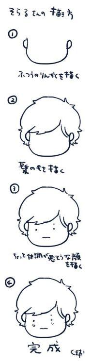 How to draw Soraru-san