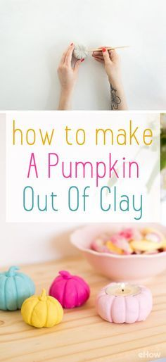 These are the cutest little clay pumpkins! These make great mantel decorations and ever cuter on the Thanksgiving table as decor. They are so easy to make and customize the colors to match your tablescape. DIY instructions here: http://www.ehow.com/how_4480863_make-pumpkin-out-clay-halloween.html?utm_source=pinterest.com&utm_medium=referral&utm_content=freestyle&utm_campaign=fanpage