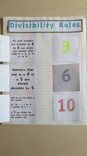 Middle School OCD: Master Math Notebook: Divisibility Rules (part 4 of a gazillion parts) Interactive Math Journals, Math Notebooks, Divisibility Rules, Fifth Grade Math, Fourth Grade, Math Charts, Math Intervention, Math Work, Teaching Math