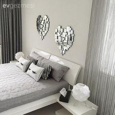 Duvar dekorasyon, Gri, Yatak Odası