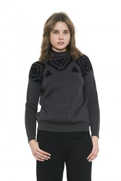Stefani Hoodie by one grey day- Inspired by the comfort of fleece hoodies, Stefani is our rendition of the urban graphic hoodie. Fleece Hoodie, Turtle Neck, Hoodies, Fall 2015, Grey, Sweaters, Urban, Clothes, Shopping