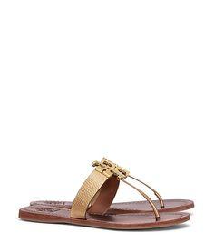 Tory Burch Moore Metallic Thong Sandal