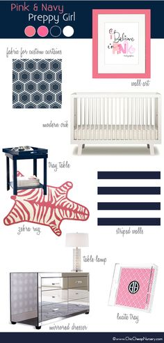Unisex Ideas: navy & white - can accent with pink after birth if it's a girl. Lighter blue or green if it's a boy.