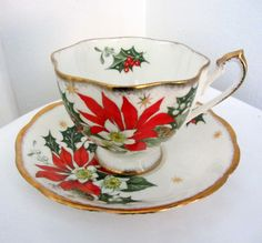 fine bone china | Queen Anne Noel Fine Bone China Teacup and by MagyarBeader