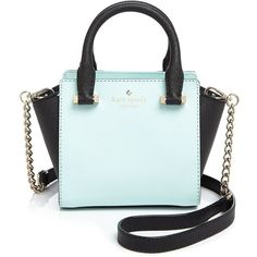 kate spade new york Cedar Street Mini Hayden Color Block Crossbody (205 CAD) ❤ liked on Polyvore featuring bags, handbags, shoulder bags, bolsas, bags and money, handle satchel, crossbody purse, blue handbags, kate spade shoulder bag and kate spade purses