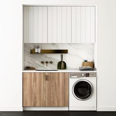 Small Laundry Room Design Inspiration, Little Space If you have no space for a full-on laundry room, don't worry: These well-decorated spaces are proof that tiny living can breed innovative design. Here are the best laundry closets and nook we found. Laundry Closet, Laundry Room Organization, Laundry In Bathroom, Basement Laundry, Laundry Area, Küchen Design, House Design, Design Ideas, Design Inspiration