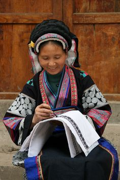 A Gelao woman from the China