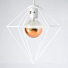 Diamond Pendant Light designed by modern lighting studio DeVignCo. Modern Lighting, Lighting Design, Pendant Lights, Diamond Pendant, Studio, Inspiration, Light Design, Biblical Inspiration, Hanging Lights