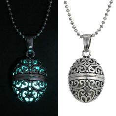 2016 New Magic Glow In The Dark Vintage Luminous Locket and Necklace Glow in the…