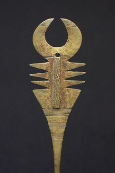 Lobi Bronze Hairpin (Burkina Faso).