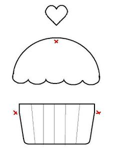 Cupcake Craze: Cupcake Applique Ideas | Wee Share  (Could use this as a template for cards and scrapbooking too)