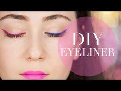 DIY EYELINER I farbiger eyliner I gel eyeliner I Hatice Schmidt - YouTube