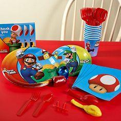 Super Mario Bros. Party Supplies for 8