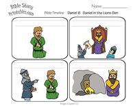 Daniel in The Lion's Den Sequencing Cards