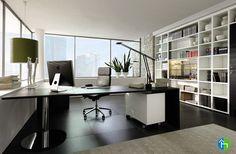 Interior, Homeoffice Writing Desk By Huelsta Office Design: Wonderful  Modern Home Office Ideas Cozy Enough