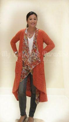 LuLaRoe Sarah over the gorgeous new LuLaRoe Shirley! #fallstyle #autumnstyle #layers #styledlayers