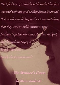 Quote from The Winner's Curse by Marie Rutkoski. Fan made by @ReadiculousGirl.
