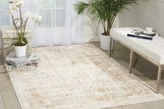 kathy ireland by Nourison Bordered Vine Area Rug 39W x 59D | National Business Furniture