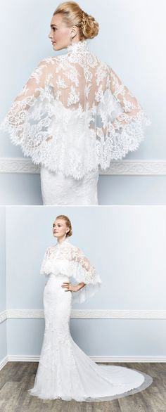 An @kenneth_winston french lace capelet for the fashionista in all of us.