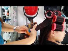 Cómo hacer unos rolos bien en casa o en tu salón de,belleza. - YouTube Roller Set, Curlers, Vintage Glamour, Up Hairstyles, Espresso Machine, Youtube, Hair Styles, Beauty, September