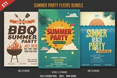 Summer Flyer Bundle by DesignWorkz on Creative Market