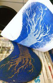the art room plant: Cardboard Printing II