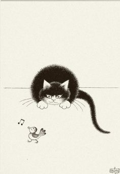 Albert Dubout 'Les chats' 08